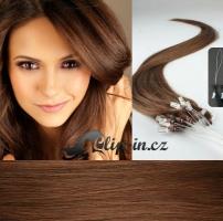 60 cm vlasy pro metodu Micro Ring 0,7 g - odstín světlejší hnědá #6