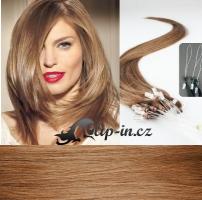 60 cm vlasy pro metodu Micro Ring 0,7 g - odstín světle hnědá #12