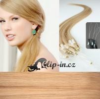 60 cm vlasy pro metodu Micro Ring 0,7 g - odstín přírodní blond #22