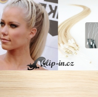 60 cm vlasy pro metodu Micro Ring 0,5 g - odstín platina #60