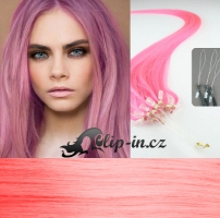 60 cm vlasy pro metodu Micro Ring 0,5 g - odstín růžová