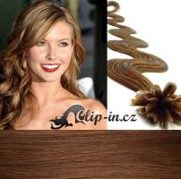 60 cm vlnité vlasy pro metodu Keratin 0,5 g - odstín světle hnědá #12