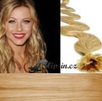 60 cm vlnité vlasy pro metodu Keratin 0,5 g - odstín přírodní blond #22