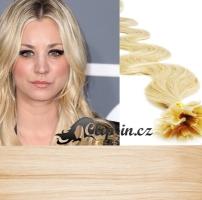 60 cm vlnité vlasy pro metodu Keratin 0,5 g - odstín nejsvětlejší blond #613