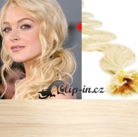 60 cm vlnité vlasy pro metodu Keratin 0,5 g - odstín platina #60