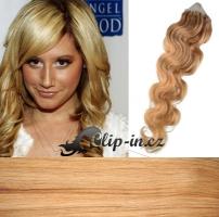 60 cm vlnité vlasy pro metodu Micro Ring 0,7 g - odstín přírodní blond #22