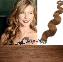 60 cm vlnité vlasy pro metodu Tape IN - odstín světle hnědá #12