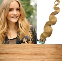 60 cm vlnité vlasy pro metodu Tape IN - odstín přírodní blond #22