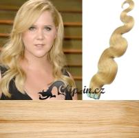 60 cm vlnité vlasy pro metodu Tape IN - odstín nejsvětlejší blond #613