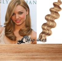 60 cm vlnité vlasy pro metodu Tape IN - odstín přírodní/světlejší blond #18/22