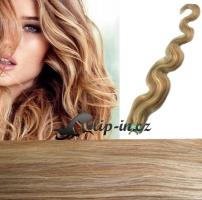60 cm vlnité vlasy pro metodu Tape IN - odstín světlý melír #12/613