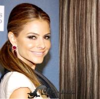 Clip in culík vlnitý 100% lidské remy vlasy 50 cm - tmavý melír #4/27