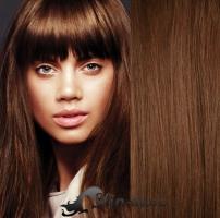 Clip in pás 100% lidské remy vlasy 41cm středně hnědá #6