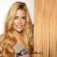 Clip in pás 100% lidské remy vlasy 41cm přírodní blond #22