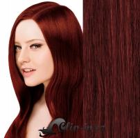 Clip in pás 100% lidské remy vlasy 41cm měděná #350