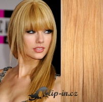 Clip in pás 100% lidské remy vlasy 51cm přírodní blond #22