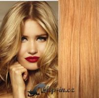 Clip in pás 100% lidské remy vlasy 61cm přírodní blond #22