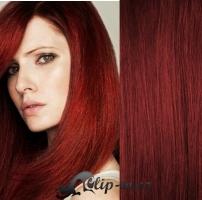 Clip in pás 100% lidské remy vlasy 61cm měděná #350