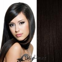 Clip in vlasy 41 cm, 100 g - přírodní černá #1b