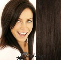 Clip in vlasy 41 cm, 100 g - tmavě hnědá #2