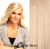 Clip in vlasy 41 cm, 100 g - nejsvětlejší blond #613