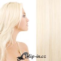 Clip in vlasy 41 cm, 100 g - platina #60