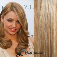 Clip in vlasy 51 cm, 100 g - světlý melír #12/613