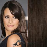 Clip in vlasy 71 cm, 140 g - tmavě hnědá #2