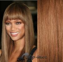 Clip in vlasy 71 cm, 140 g - světle hnědá #12
