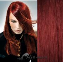 Clip in vlasy 71 cm, 140 g - měděná #350