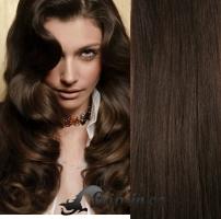 Clip in vlasy kudrnaté 51 cm, 100 g - tmavě hnědá #2