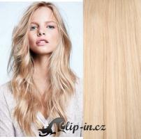 Clip in vlasy kudrnaté 51 cm, 100 g - nejsvětlejší blond #613