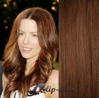 Clip in vlasy vlnité 51 cm, 100 g - středně hnědá #6
