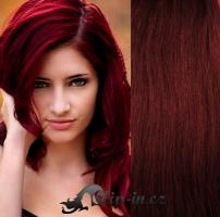 Clip in vlasy vlnité 51 cm, 100 g - měděná #350