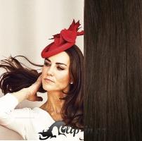 DELUXE clip in vlasy 41 cm, 140 g - tmavě hnědá #2