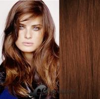 DELUXE clip in vlasy 41 cm, 140 g - středně hnědá #6