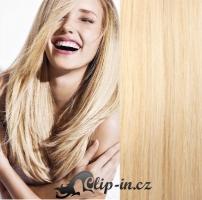 DELUXE clip in vlasy 41 cm, 140 g - nejsvětlejší blond #613