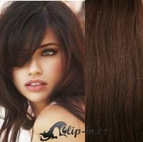 DELUXE clip in vlasy 51 cm, 200 g - čokoládově hnědá #4