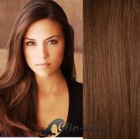 DELUXE clip in vlasy 51 cm, 200 g - středně hnědá #6
