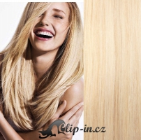 DELUXE clip in vlasy 51 cm, 200 g - nejsvětlejší blond #613
