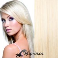 DELUXE clip in vlasy 51 cm, 200 g - platina #60