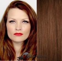 DELUXE clip in vlasy 61 cm, 240 g - středně hnědá #6