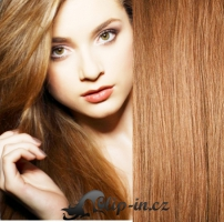 DELUXE clip in vlasy 61 cm, 240 g - světle hnědá #12