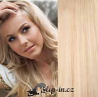 DELUXE clip in vlasy 61 cm, 240 g - nejsvětlejší blond #613