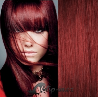 DELUXE clip in vlasy 61 cm, 240 g - měděná #350