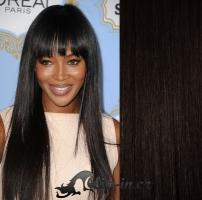 DELUXE clip in vlasy 71 cm, 280 g - přírodní černá #1b