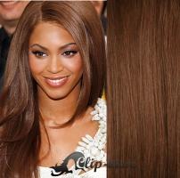 DELUXE clip in vlasy 71 cm, 280 g - středně hnědá #6
