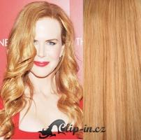 DELUXE kudrnaté clip in vlasy 51 cm, 200 g - přírodní blond #22