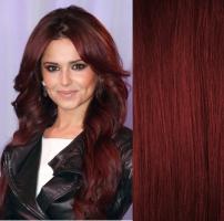 DELUXE kudrnaté clip in vlasy 51 cm, 200 g - měděná #350