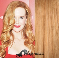 DELUXE vlnité clip in vlasy 51 cm, 200 g - přírodní blond #22